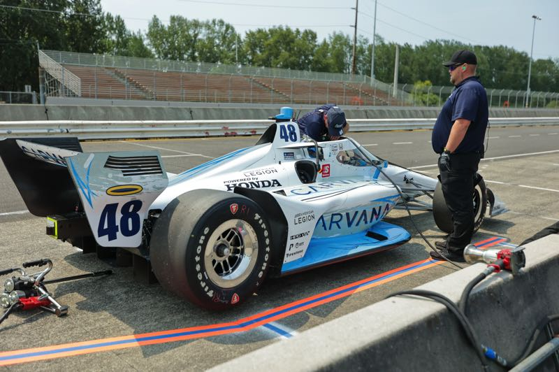 PMG PHOTO: JONATHAN VILLAGOMEZ - Former NASCAR Cup great Jimmie Johnson has struggled in his first IndyCar Series season.