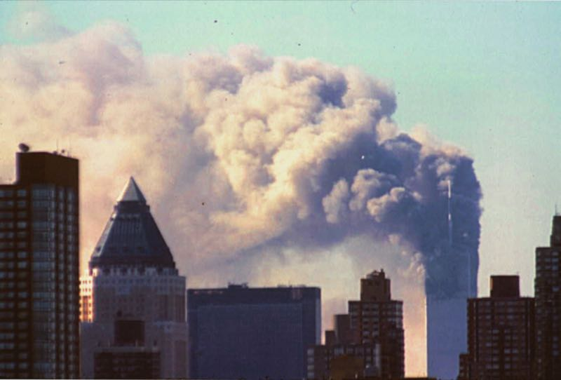 COURTESY PHOTO: LIBRARY OF CONGRESS PRINTS AND PHOTOGRAPHS DIVISION - The north tower of the World Trade Center on Sept. 11, 2001.