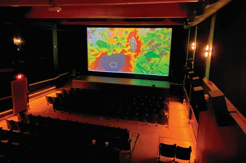PHOTO SUBMITTED BY ONIKO MEHRABI  - The downstairs main theater seats 170 and includes a stage.
