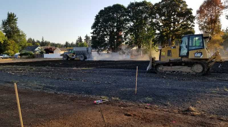COURTESY PHOTO: CITY OF ST. HELENS - Crews prepping a Campbell Park area for treatment.