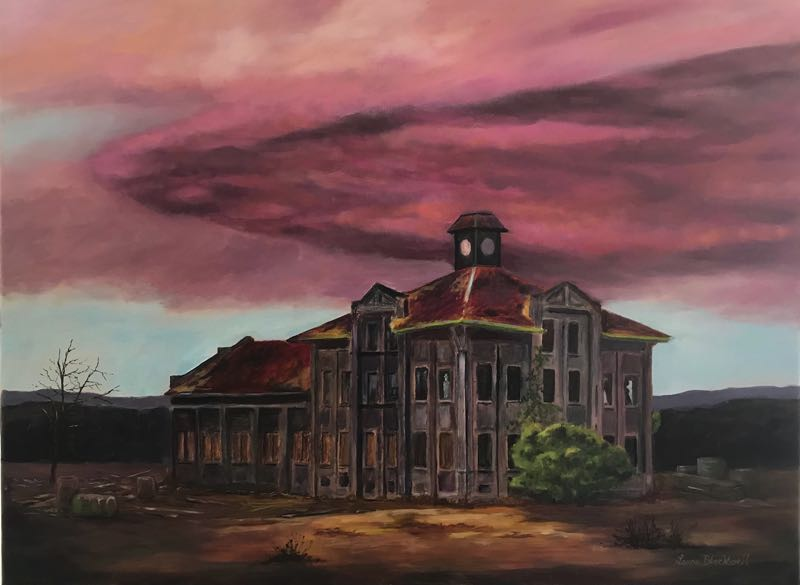 """COURTESY PHOTO: ACLO - """"GasCo Building-Inspiring the Imagination"""" is a painting by Laura Blackwell that is on display at the current ACLO exhibit."""