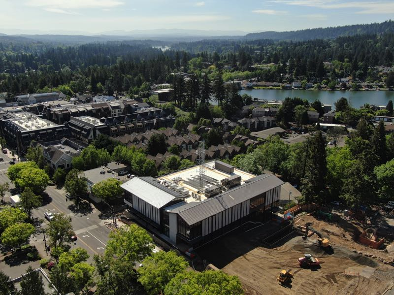 COURTESY PHOTO: CITY OF LAKE OSWEGO - The new City Hall building and civic plaza is nearly complete.