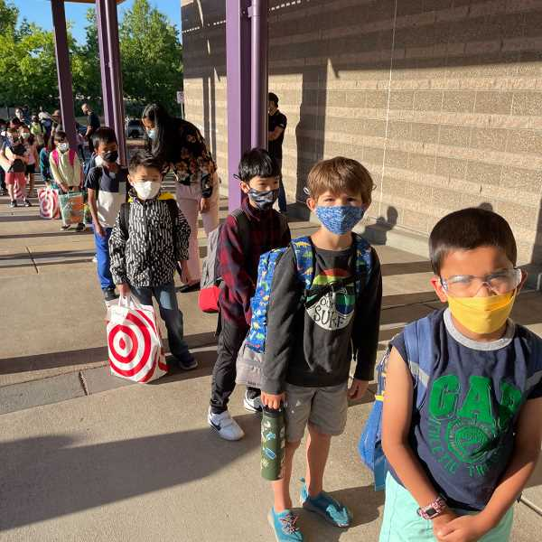COURTESY: BEAVERTON SCHOOL DISTRICT - Beaverton School District students returned to full-time school in person for the first time in 18 months on Wedenesday, Sept. 8.