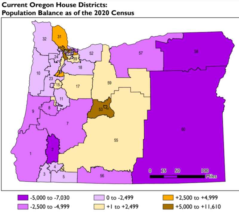 (Image is Clickable Link) OREGON LEGISLATIVE POLICY AND RESEARCH OFFICE - Columbia County is part of House District 31, one of a handful of districts that far exceed the state average of 70,621 residents per district.