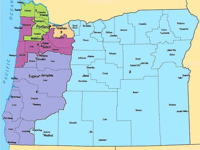 PMG FILE PHOTO - A map showing Oregon's congressional districts is about to change as lawmakers try to carve out a sixth district, and other seats, under the watchful public eye.