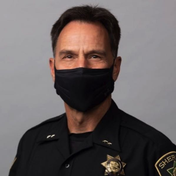 COURTESY - Multnomah County Sheriff Mike Reese sports a face mask in his Twitter profile picture.