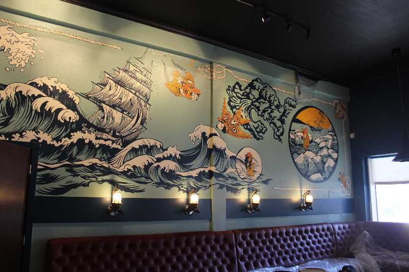PMG PHOTO: KRISTEN WOHLERS - The name Siren Song comes from ancient Greek mythology and embodies the idea of a place calling out to people. VIVI Design Co. created the Siren Song mural inside the new downtown space.