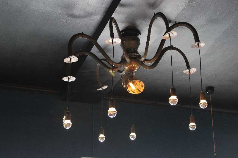 PMG PHOTO: KRISTEN WOHLERS - Aurora Mills provides nautical-themed lighting for Siren Song, opening soon in downtown Canby.
