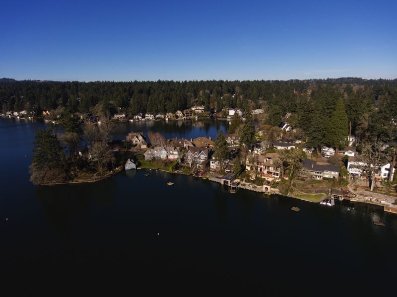 COURTESY PHOTO: KYLE MCCALLUM - Homes along Oswego Lake are some of the most valuable in the area.