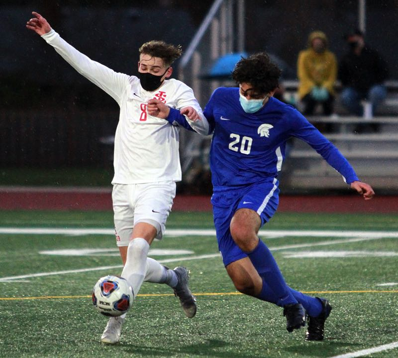 PMG PHOTO: MILES VANCE - La Salle senior Luke Bjelland (left) and the Falcons hope to compete for a Northwest Oregon Conference championship this year.