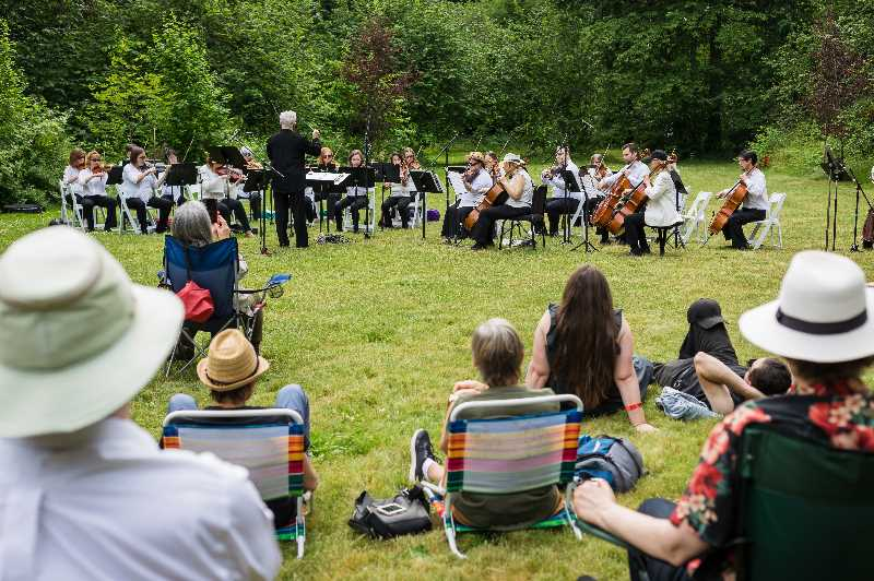 COURTESY PHOTO: CITY OF GRESHAM - The Portland Columbia Symphony used their grant funds to host a free brass quintet concert at Nadaka Nature Park this year.