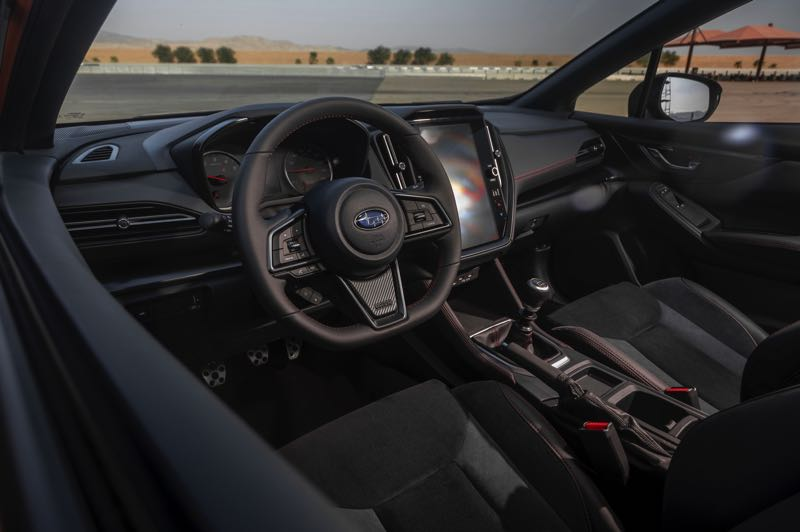 PMG PHOTO: JEFF ZURSCHMEIDE - The new WRX is available with a six-speed manual tramsission or a Subaru Perfoamnce Transmission that shifts like an eight-speed automatic. Recaro seats are standardard in the GT trim.