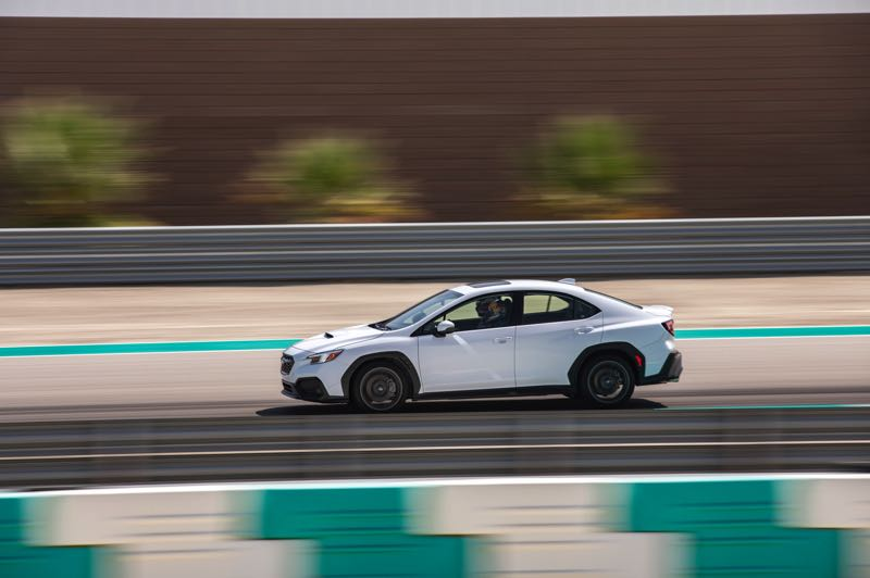PMG PHOTO: JEFF ZURSCHMEIDE - The new Subaru WRX is powered by a turbocharged 2.4-liter Boxer four that produces 271 horsepower and 258 pound-feet of torque that powers all four wheels.