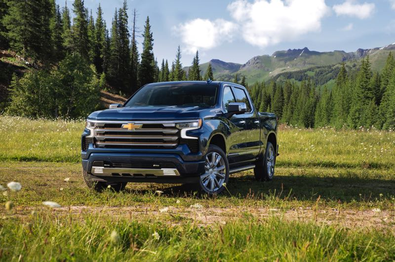 CONTRIBUTED PHOTO: CHEVROLET - Four engines are available in the 2022 Chevy Silverado, inlcuding an improved turbocharged 2.7-liter four and a 3.0-liter Duramax diesel. Four-wheel-drive is available across the line.
