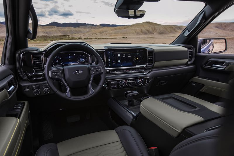 CONTRIBUTED PHOTO: CHEVROLET - The new Silverado includes an available 13.4-inch-diagonal touchscreen and available Super Cruise hands-free driver-assistance technology.