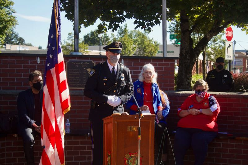 PMG PHOTO: CHRISTOPHER KEIZUR - Gresham VFW Post 180 Auxiliary hosted a 9/11 remembrance ceremony Saturday, Sept. 11.