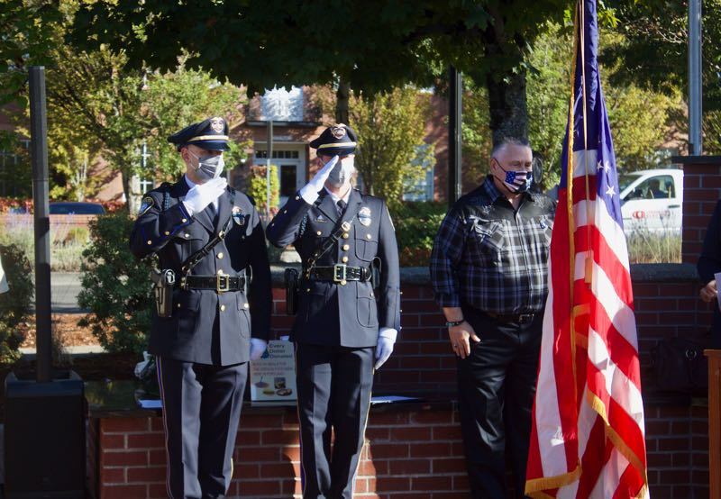 PMG PHOTO: CHRISTOPHER KEIZUR - The Patriots Day Program remembered those who died on 9/11 and honored all first responders.