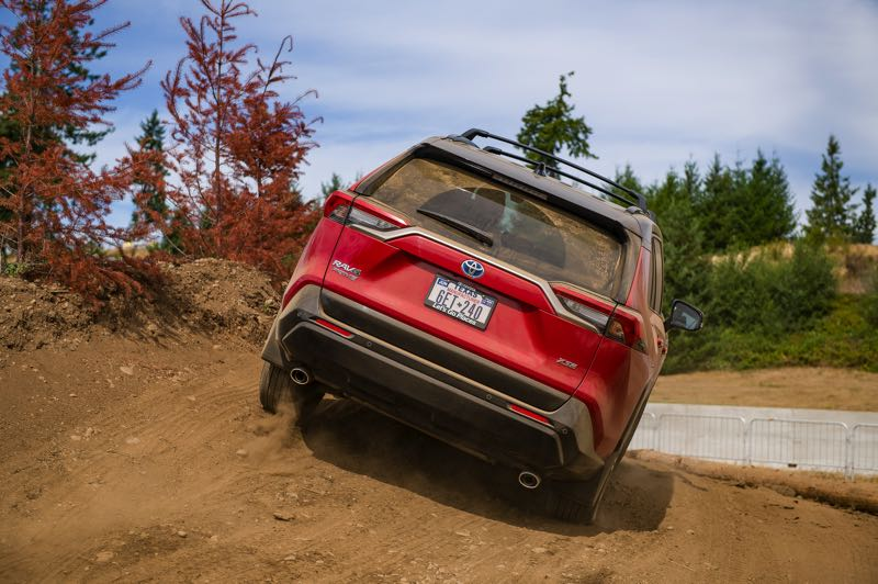 DOUG BERGER/NWAPA - A second electric motor that powers the rear wheels gives the 2021 Toyota RAV4 Prime XSE AWD full off-road capabilities.