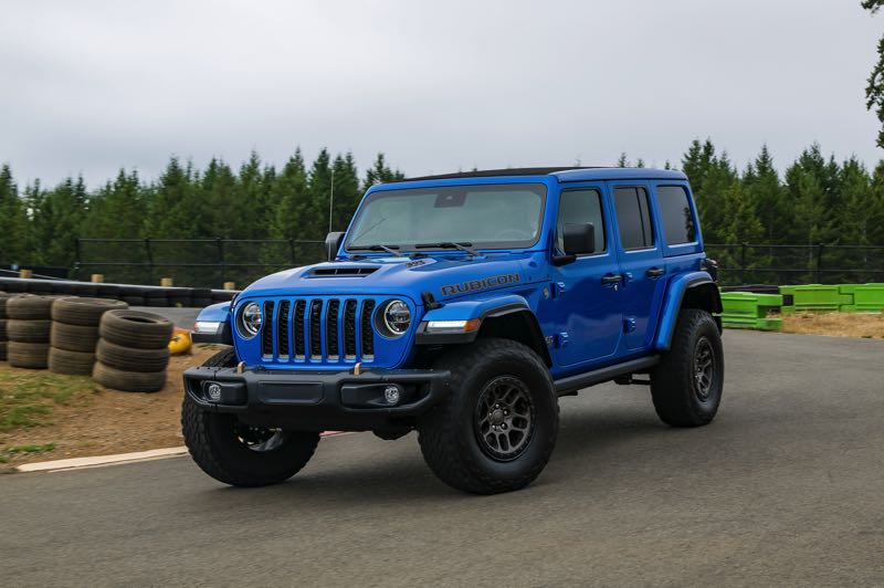 DOUG BERGER/NWAPA - The 2022 Jeep Wrangler Unlimited Rubicon 392 is named after the 392 cubic inch V8 that powered it around the track at Mudfest 2021.