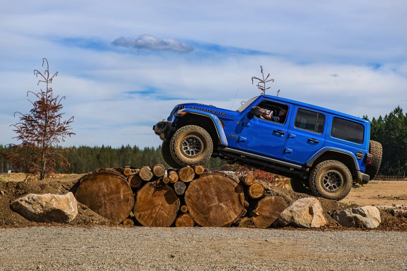 DOUG BERGER/NWAPA - The 2022 Jeep Wrangler Unlimited Rubicon 392 is as off-road capable as it is fast.