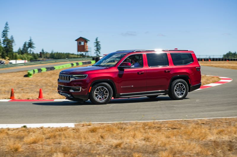 DOUG BERGER/NWAPA - The all-new 2022 Jeep Wagoneer Series II 4X4 combines luxury, three rows of seating and serious off-road capabilities.