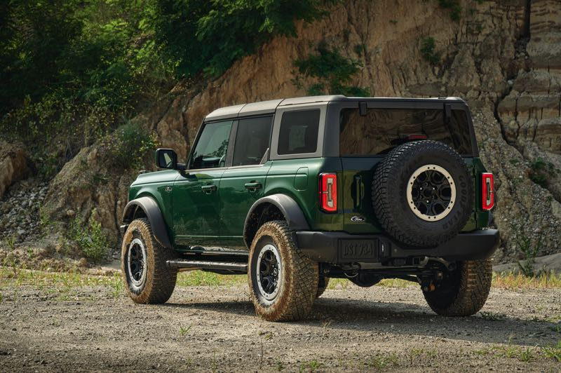 COURTESY PHOTO: FORD MOTOR CO. - Among other features, the 2021 Ford Bronco comes with a removable roof and doors for open air off-road driving.