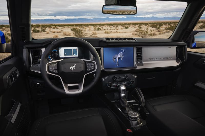 COURTRESY PHOTO: FORD MOTRO CO. - The 2021 Ford Bronco can be outfilled with practically all available advanced automotive technologies.