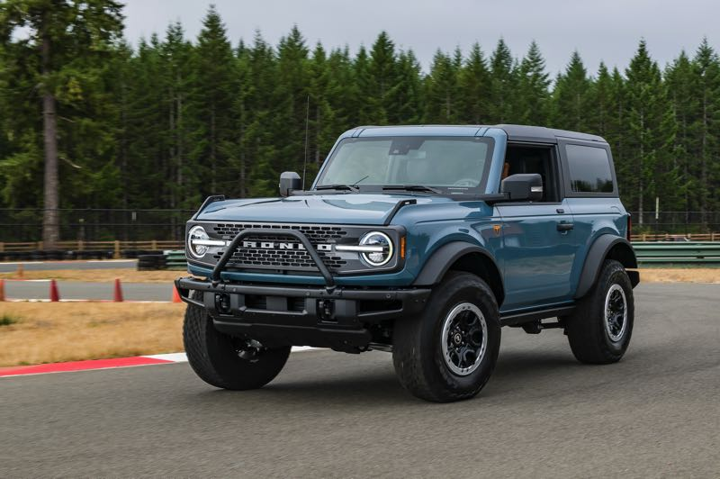 DOUG BERGER/NWAPA - The compact 2021 Ford Bronco Sport won second place in the Extreme Capability category at Mudfest 2021.