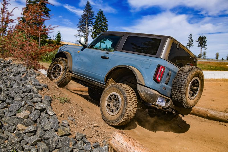 DOUG BERGER/NWAPA - The 2021 Ford Bronco Sport demonstrating its off-rod capabilities at Mudfest 2021.