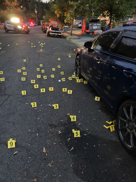 COURTESY PHOTO: PPB - Cartridge casings found in the Parkrose neighborhood.