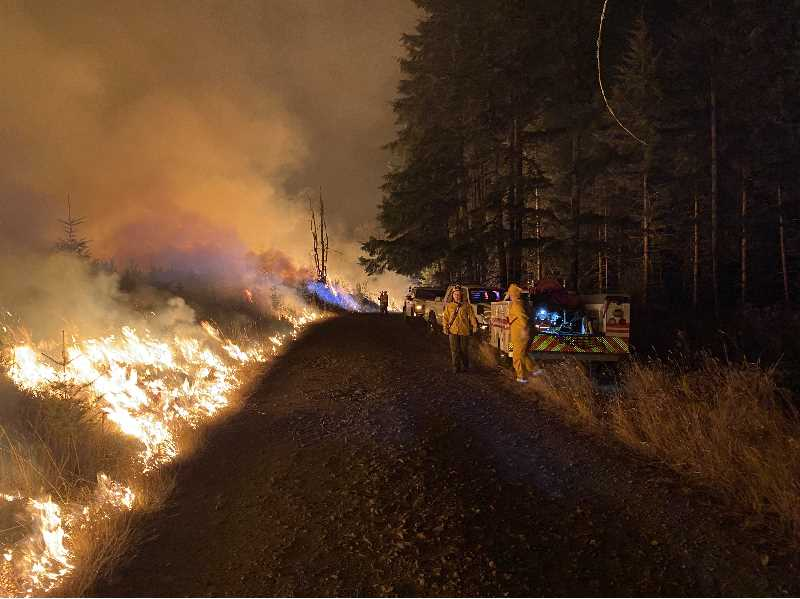 Alder Creek Fire 75% contained