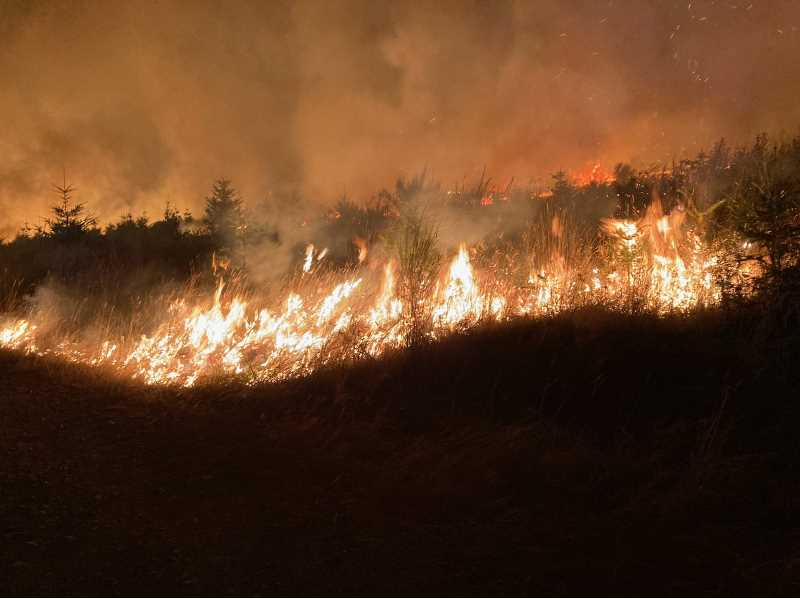 COURTESY PHOTO - The Alder Creek Fire outside Scappoose is 75% contained as of Monday, Sept. 13.