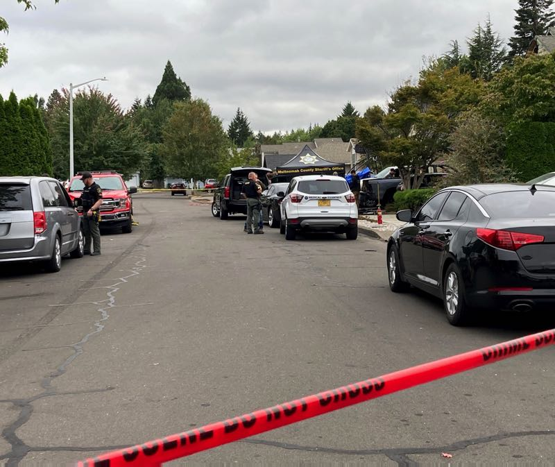 COURTESY PHOTO: MULTNOMAH COUNTY SHERIFFS OFFICE - The MCSO is investigating an explosion and death that occurred Monday morning, Sept. 13, in Troutdale.