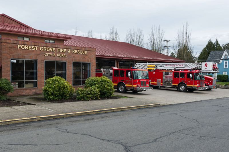 PMG FILE PHOTO - The Forest Grove Fire & Rescue department on Ash Street and 19th Avenue.