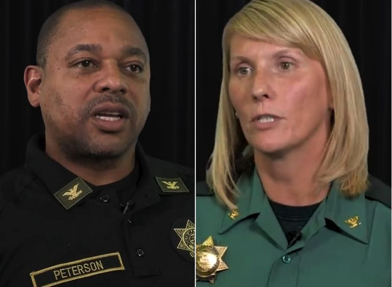COURTESY PHOTOS: MCSO - Multnomah County Undersheriff Nicole Morrisey O'Donnell is running against Capt. Derrick Peterson in the election to be sheriff.