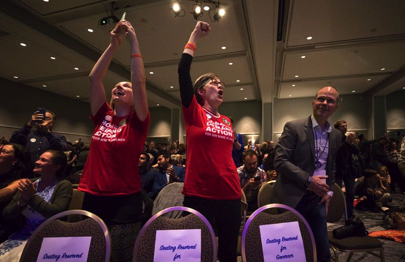PMG FILE PHOTO - Democrats celebrated election victories in 2018. This year's campaign season has started slowly, with few big names in state races.