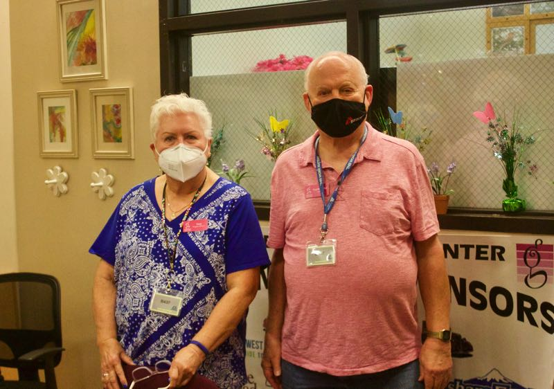 PMG PHOTO: CHRISTOPHER KEIZUR - Terry Ann Pullen and Paul Nasiatka are confident the Gresham Senior Center will survive the pandemic.