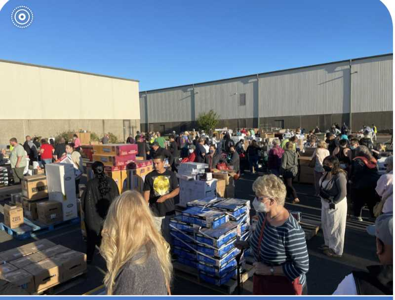 COURTESY PHOTO - Shoppers descend on the Saturday, Sept. 11, Do It Best Corp. parking lot sale to raise money for the American Cancer Society. This year's annual event was a record breaker, raising $40,700.