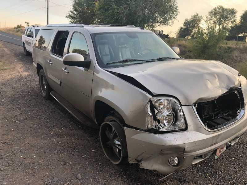 COURTESY JEFFERSON COUNTY SHERIFF - The SUV driven by Garyson Johnson, 22, fled the scene of an accident on Highway 97 near Bear Drive. A Jefferson County Sheriff deputy caught up with the vehicle on Bear Drive near Highway 361.
