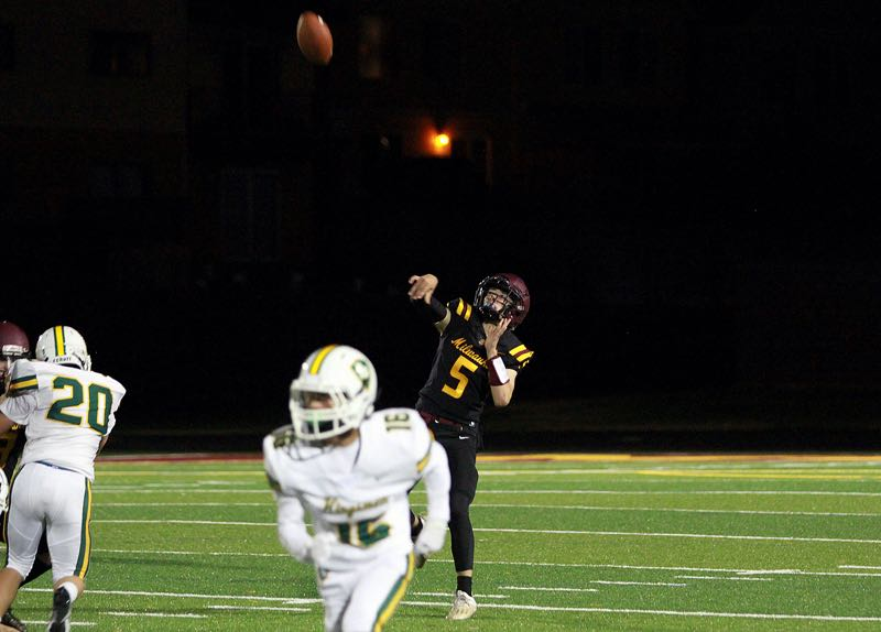 PMG PHOTO: MILES VANCE - Milwaukie junior quarterback Kaden Harris is one of the players that Mustang head coach Tim Price said is key to his team's chances at success in 2021.