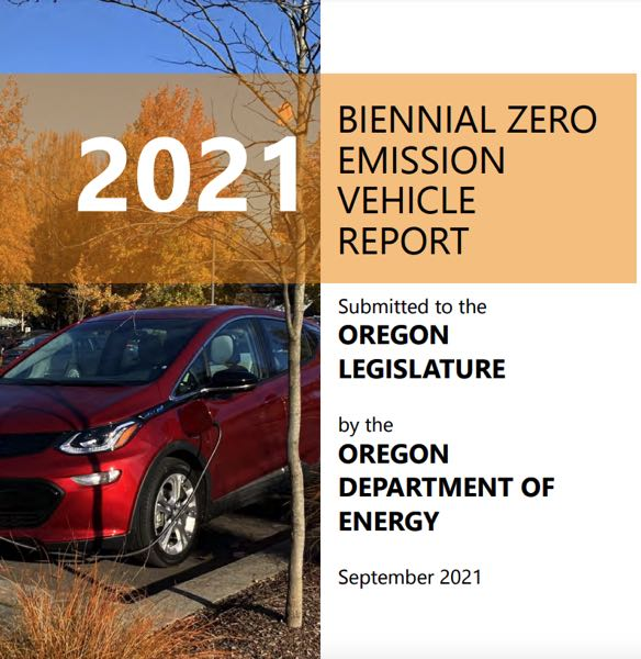 COURTESY GRAPHIC: ODE - The new report from the Oregon Department of Energy