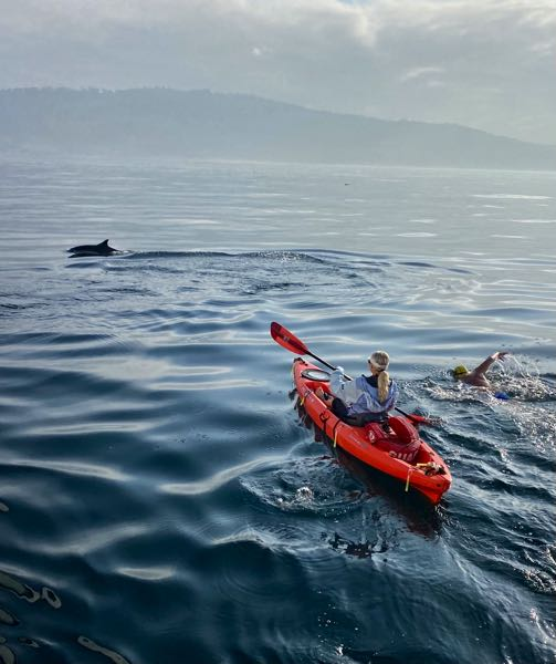 COURTESY PHOTO: BOB BURROW - Bob Burrow swam the 21-mile Catalina Channel in about 10 hours and 49 minutes.