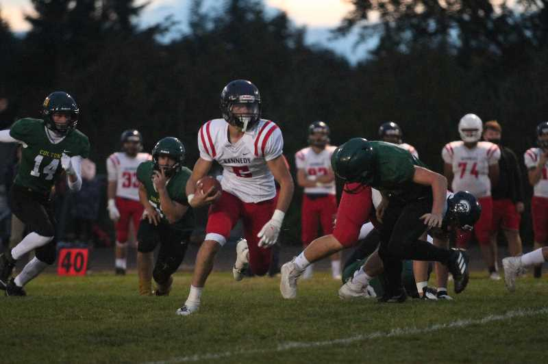 PMG PHOTO: TANNER RUSS - Kennedys ground game was crucial in the 48-8 blowout win over Colton on Friday, Sept. 17.