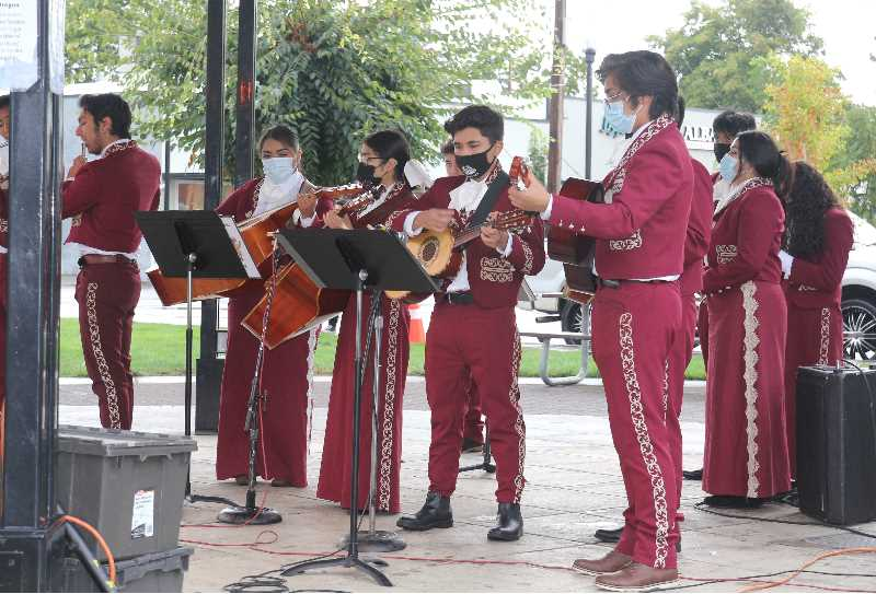 PMG PHOTO: JUSTIN MUCH - The Woodburn High School Mariachi Band entertained at the Hispanic Heritage celebration Saturday, Sept. 18.