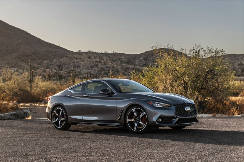 COURTESY PHOTO: INFINITI - The 2021 Infiniti Q60 is a sleep yet muscular-looking luxury sports coupe that delivers European performance for thousands less.