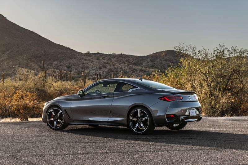 COURTESY PHOTO: INFINITI - All trim levels of the 2021 Infiniti Q60 luxury sport coupe are available with all-wheel-drive.