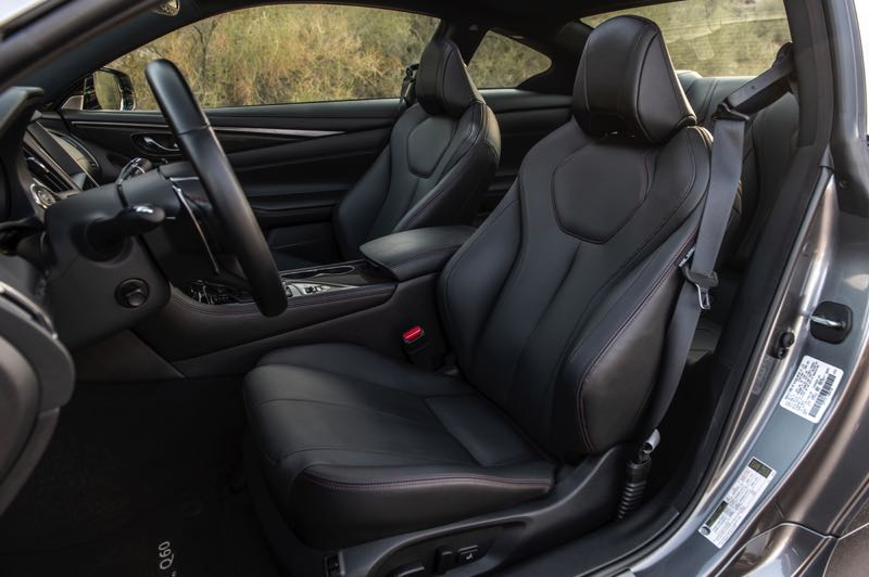 COURTESY PHOTO: INFINITI - The sport bucket front seats in the 2021 Infiniti Q60 are supportive and comfortable.
