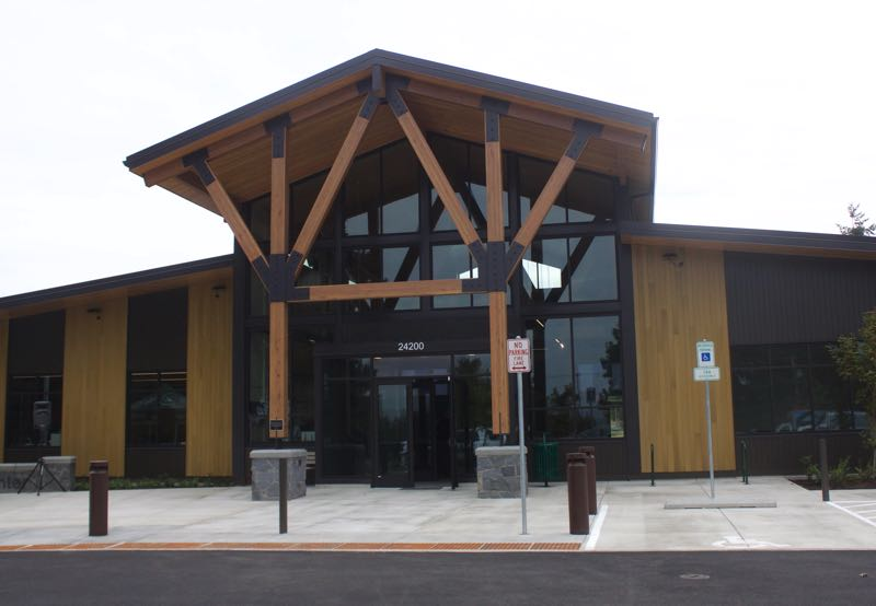 PMG PHOTO: CHRISTOPHER KEIZUR - The new 9,000-square-foot Wood Village City Hall blends government with community spaces.