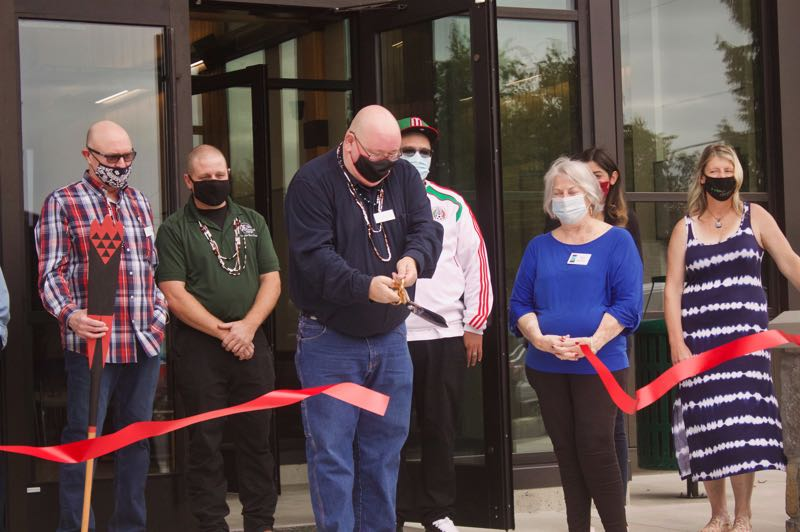 PMG PHOTO: CHRISTOPHER KEIZUR - The new City Hall celebrated a grand opening Friday afternoon, Sept. 17.