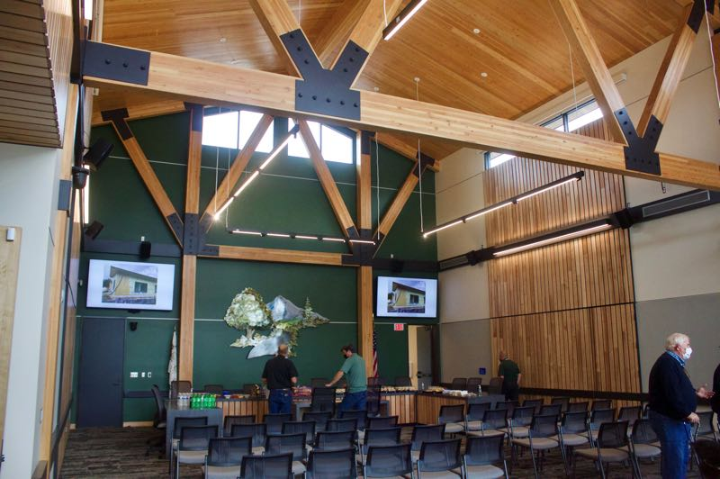 PMG PHOTO: CHRISTOPHER KEIZUR - The great hall is an inviting place for Wood Village City Council meetings to be held.